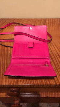 pink leather crossbody bag with wristlet Washington, 20001
