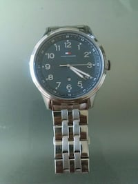 Tommy Hilfiger round silver analog watch like new  Ottawa, K2P 2C8