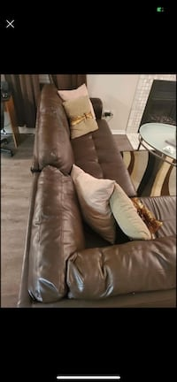 Sectional couch brown