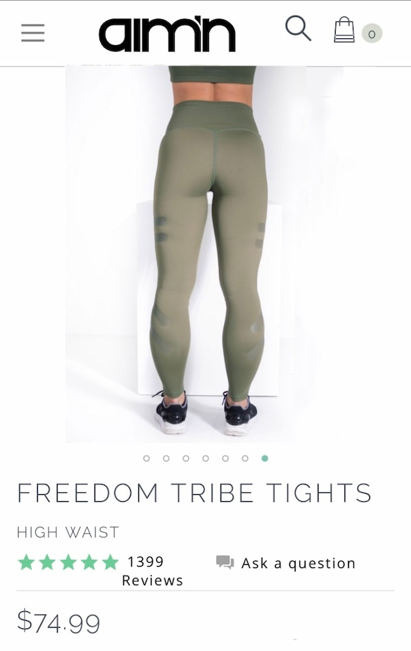 cheap for discount 20d05 7c835 Used Aim n olive green workout leggings size large for sale in Perris -  letgo