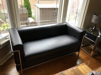 Black leather sofa set Mississauga, L4Z 0B8