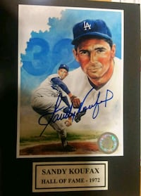 signed Sandy Koufax trading card Great Falls, 22066