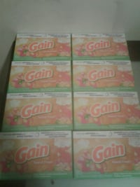 8 boxes of Gain dryer sheets