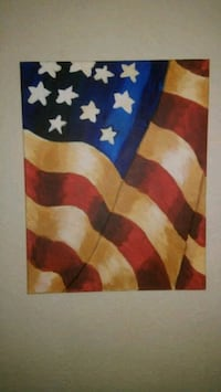Canvas flag painting Colorado Springs, 80916