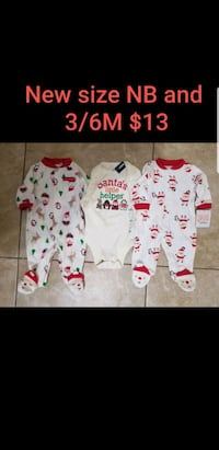 New Christmas onesie pajamas size NB and 3/6m Las Vegas, 89120