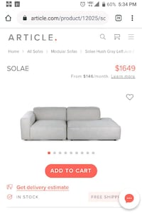 Couch with matching ottoman - like new