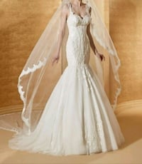 Nicole Milano Wedding Dress made in Italy Vaughan