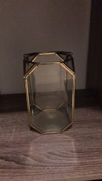 stainless steel framed glass top side table Los Angeles, 90016