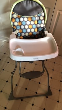 Baby's white and blue high chair Greenville, 29609