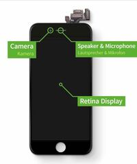 Iphone screen, mic, battery and camera fixing