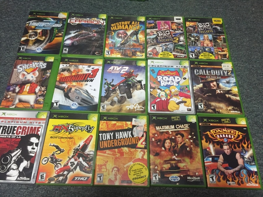 Original Old Xbox Games : Used a bunch of original xbox games some common