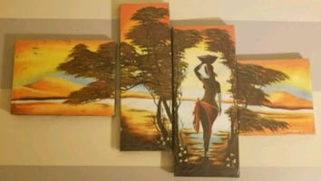 Wall 4 piece Art Painting