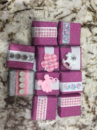 Baby girl chocolate favor, for 10$.  Edmonton, T5Y 0W7