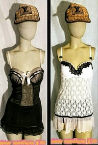 women's black and white sleeveless dress Las Vegas, 89169