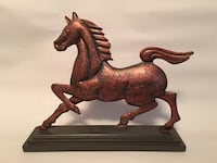 Brown ceramic horse figurine