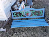blue and green wooden bench Pottsboro, 75076