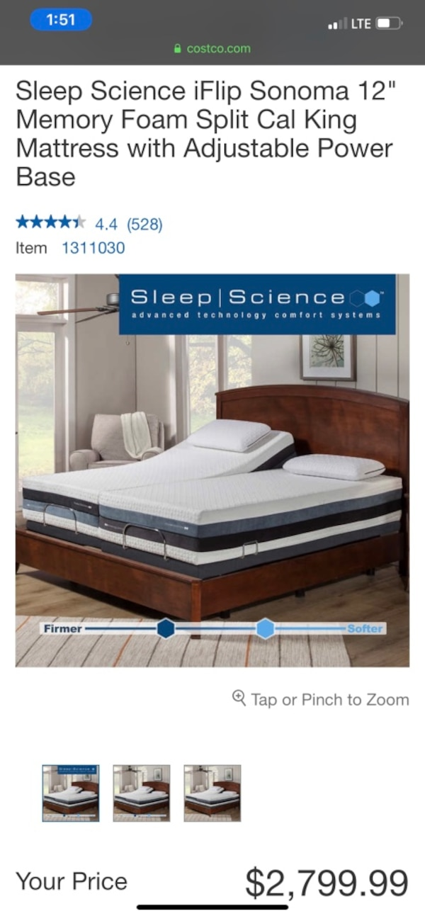 Sleep Science Mattress >> California King Size Bed Sleep Science Adjustable Bed With Massage Costco Bed Can Deliver