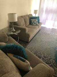 Living room set with coffee table set and lamps + extra pillows  Temple Hills, 20748