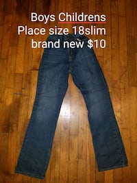 blue denim straight cut jeans Fort Payne, 35967