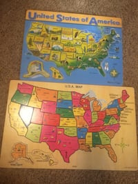 Two USA puzzle maps