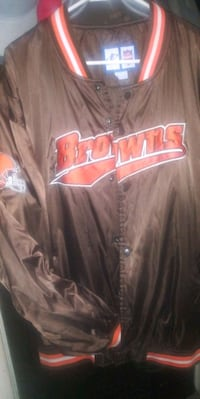 VINTAGE BUTTON UP BROWNS JACKET