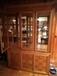 Dinning room table with chairs and cabinet set High Point
