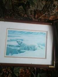 painting of two cubs and one polar bear with brwon frame Saint Andrews West, K0C 2A0