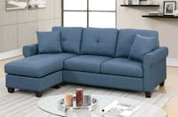 Brand New Blue Linen Sectional Sofa Couch  Silver Spring, 20910