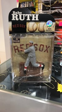 Babe Ruth Red Sox action figure