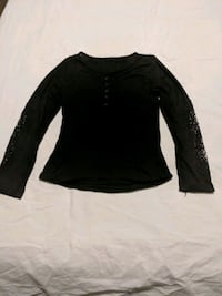 Black shirt with embroidered sleeve size small Calgary, T2E 0B4