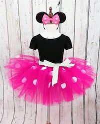 Minnie Mouse tutu headband bow set Oakville