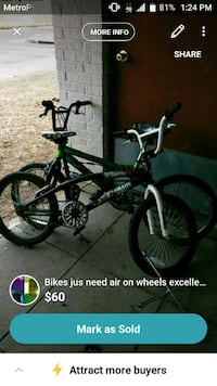 black and green BMX bike screenshot El Paso, 79905