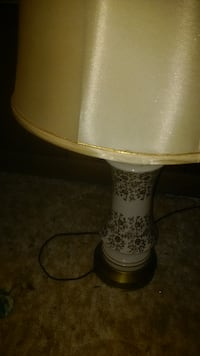 white and brown floral table lamp ATLANTA