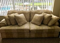 brown fabric 3-seat sofa Orlando, 32828