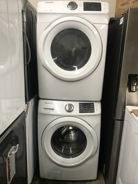 Brand new open box Samsung front loader washer and dryer white !! Warranty!! We deliver!!!