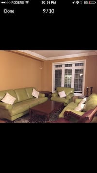 Living room set olive leather Vaughan, L4L 2L5