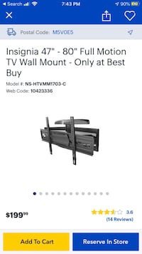 INSIGNIA FULL MOTION TV WALL MOUNT