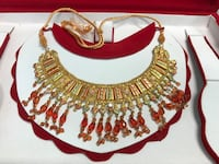 Choker set with tikka and jhumer, bridal, indian/Pakistani, gold colour Mississauga, L5L 5T9