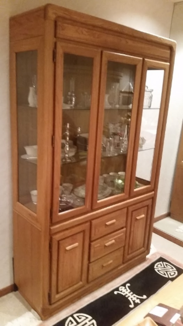 Used Stanley Dining Room Set With China Cabinet For Sale
