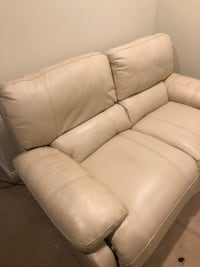 white leather 3-seat sofa Billerica, 01821