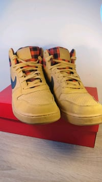 Nike High Top Sneakers with Red Check Trim Toronto, M5T 1V7