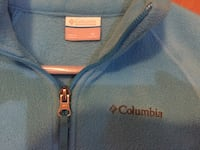 Turquoise Columbia child's jacket/ like new!!  Size medium 10-12 Keavy, 40737