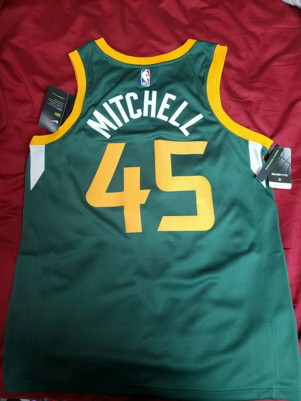 uk availability 9a635 22500 Utah Jazz Donovan Mitchell Jersey authentic real