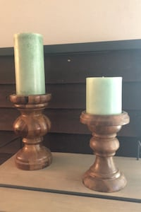 Candle pillar holder (two)