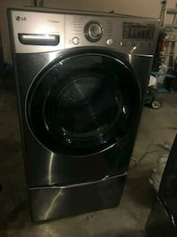 Stainless steel Washer and Dryer with pedestals  Mission, 78572