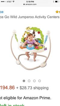 Fisher Price Go Wild Jumperoo gently used Roseville, 48066