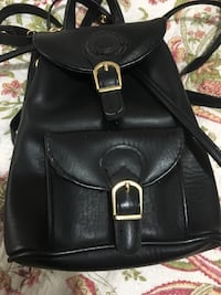 Small and cut black leather knapsack  New Westminster, V3M 1M4