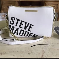 Steve Madden White and black leather bag Rockville, 20852