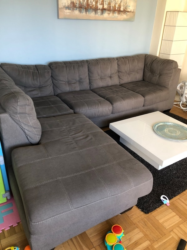 Gray L Shape sectional Sofa original price $900