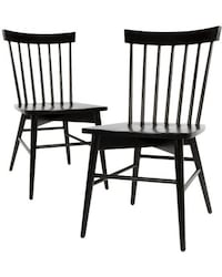 (2) black Windsor chairs  Springfield, 22150